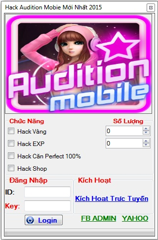 hack audition mobile vtc